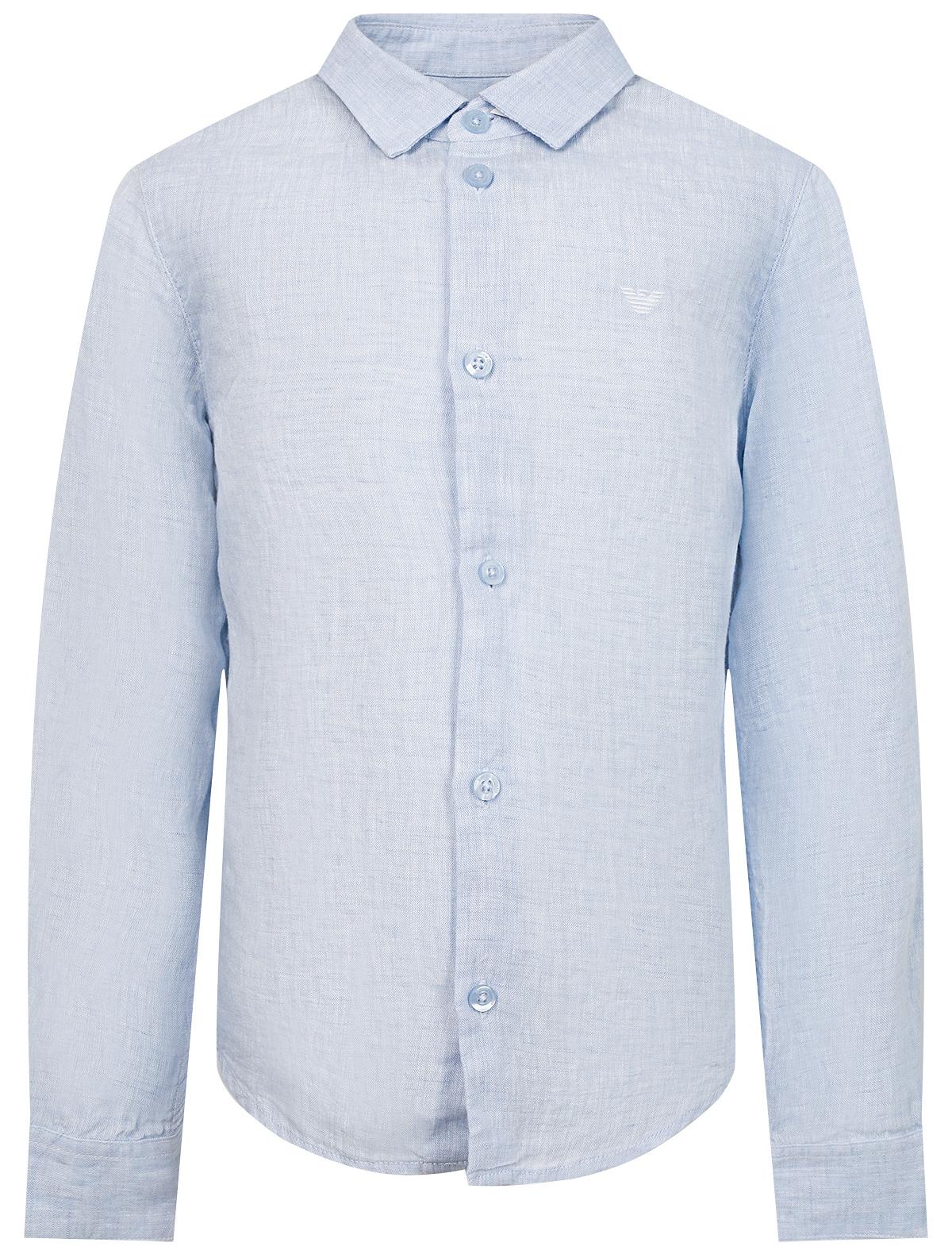 Купить 2168334, Рубашка Armani Junior, голубой, Мужской, 1014519070088