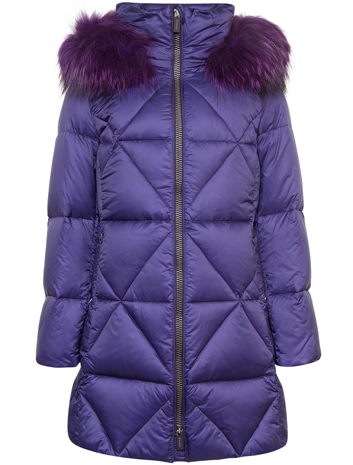 Купить 1880383, Пальто Jums Kids, фиолетовый, Женский, 1123309780318
