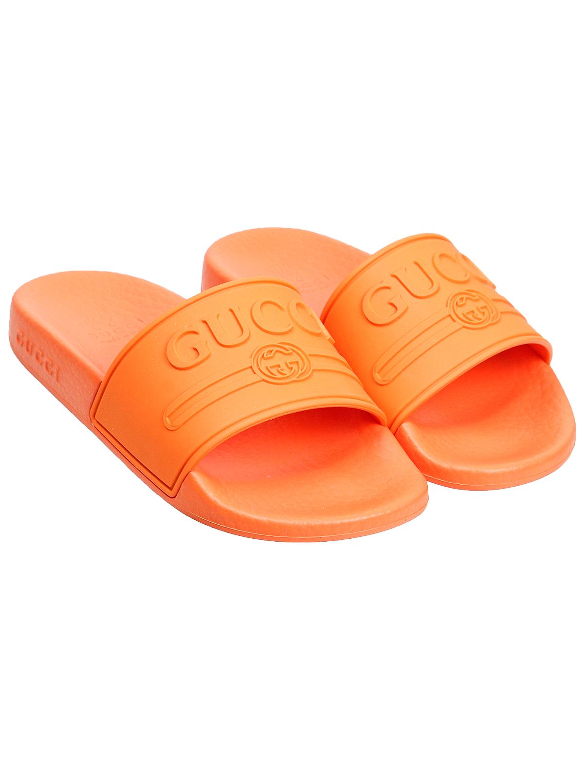 Купить 1946804, Шлепанцы пляжные GUCCI, оранжевый, 2282429970067