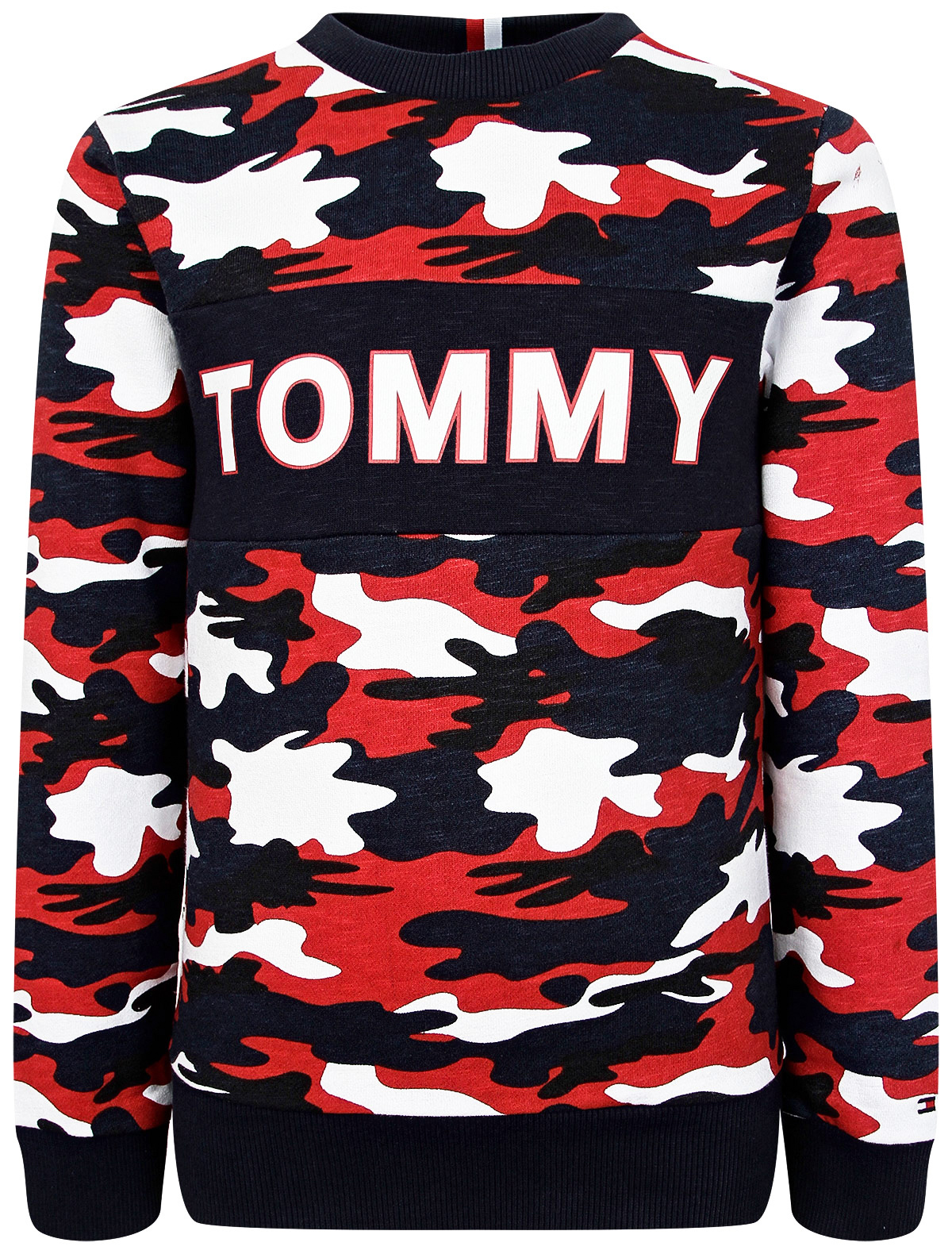 Свитшот TOMMY HILFIGER красного цвета