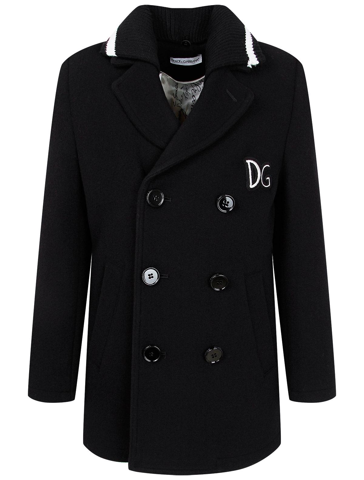 Купить 2263807, Пальто Dolce & Gabbana, черный, Мужской, 1124519080595