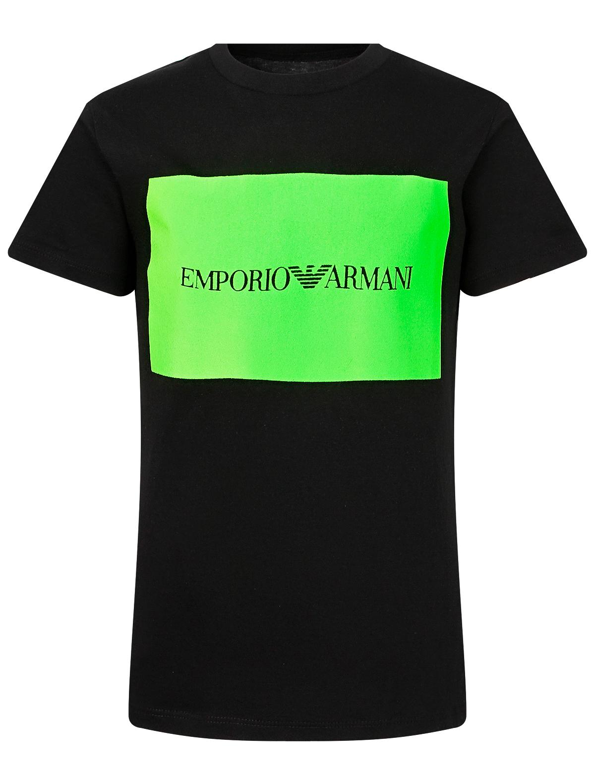 Купить 2168194, Футболка Armani Junior, черный, Мужской, 1134519071387