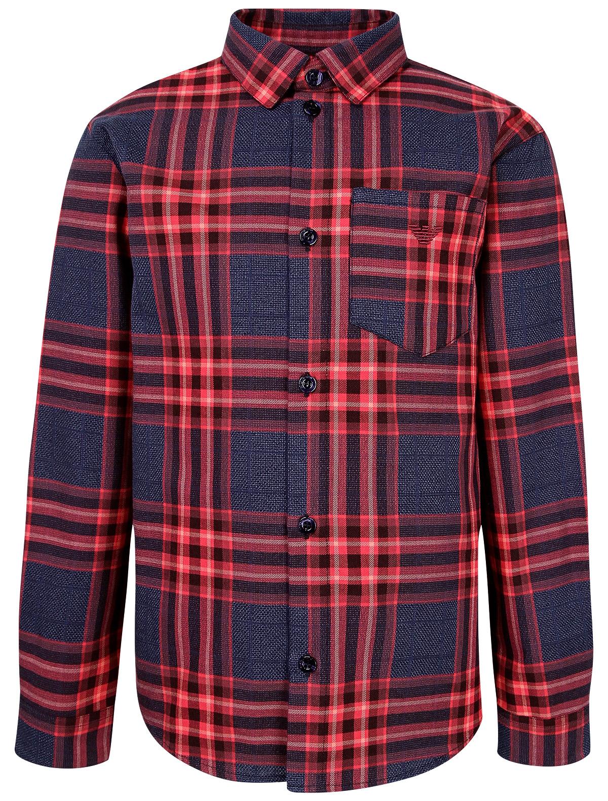 Купить 2129299, Рубашка Armani Junior, красный, Мужской, 1013619980099