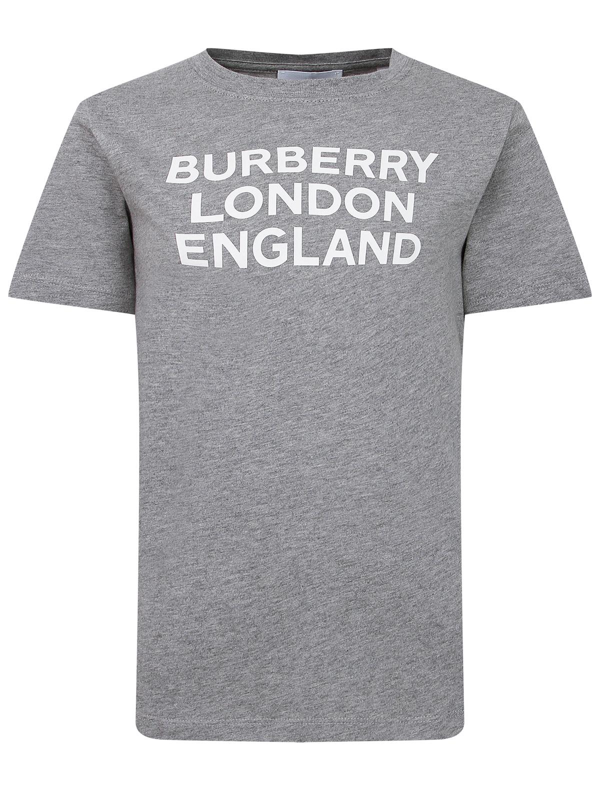Купить 2289803, Футболка Burberry, серый, 1134529174474