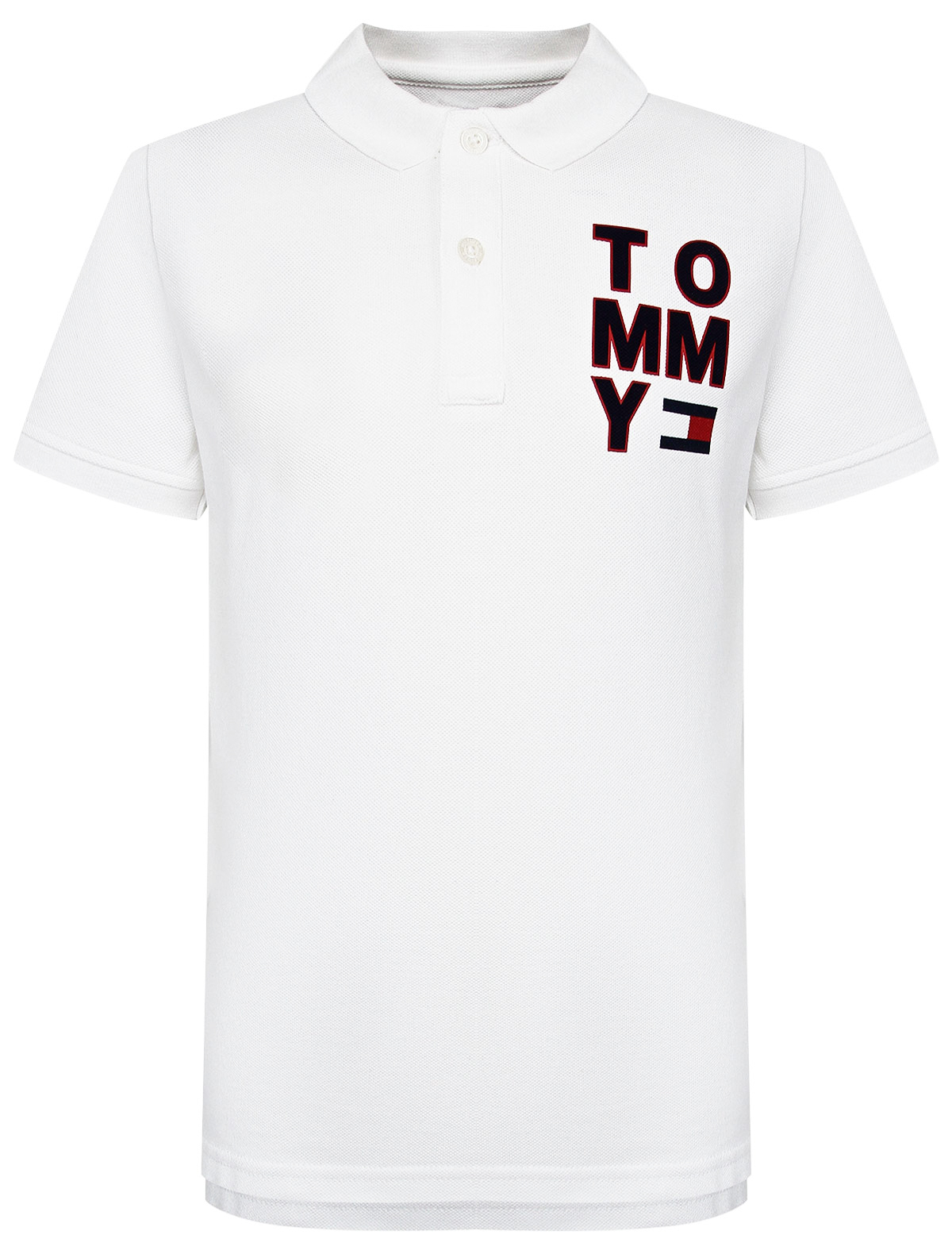 Купить 2173708, Поло TOMMY HILFIGER, белый, Мужской, 1144519071515