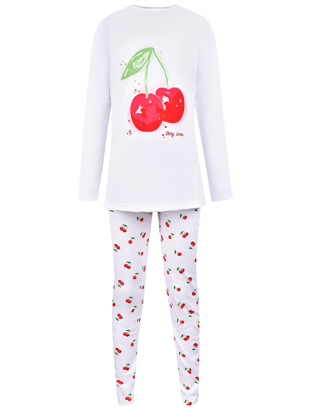 Пижама Story Loris белого цвета
