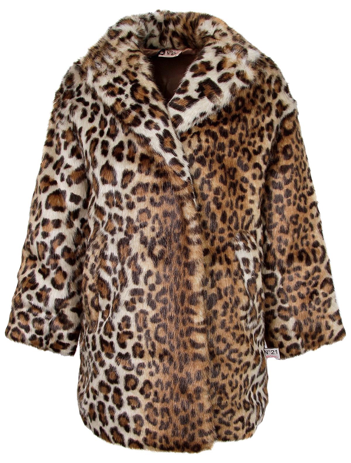 Купить 2233292, Пальто №21 kids, коричневый, Женский, 1124509080420