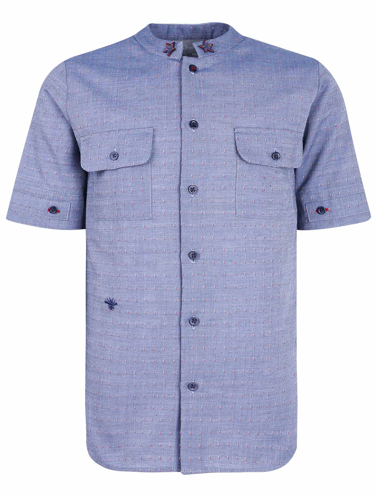 Купить 1863625, Рубашка Dior, синий, Мужской, 1011419870756