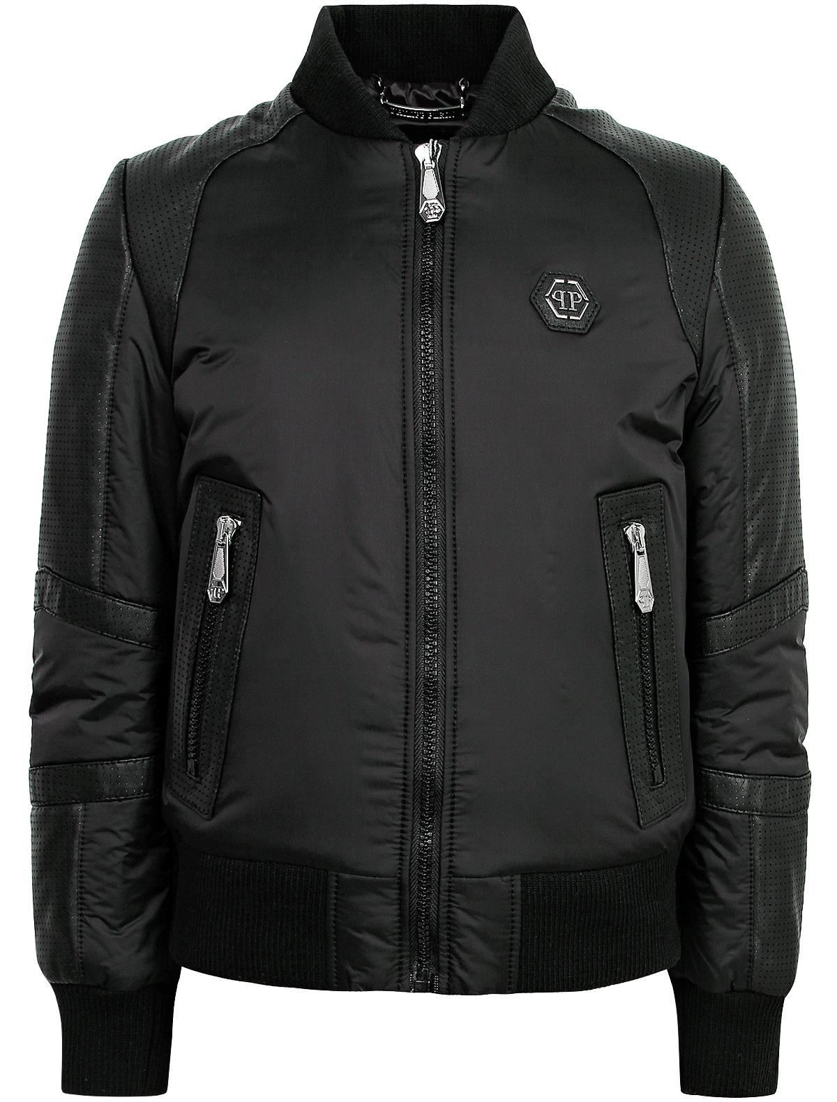 Купить 1873299, Куртка Philipp Plein, черный, Мужской, 1071119880196