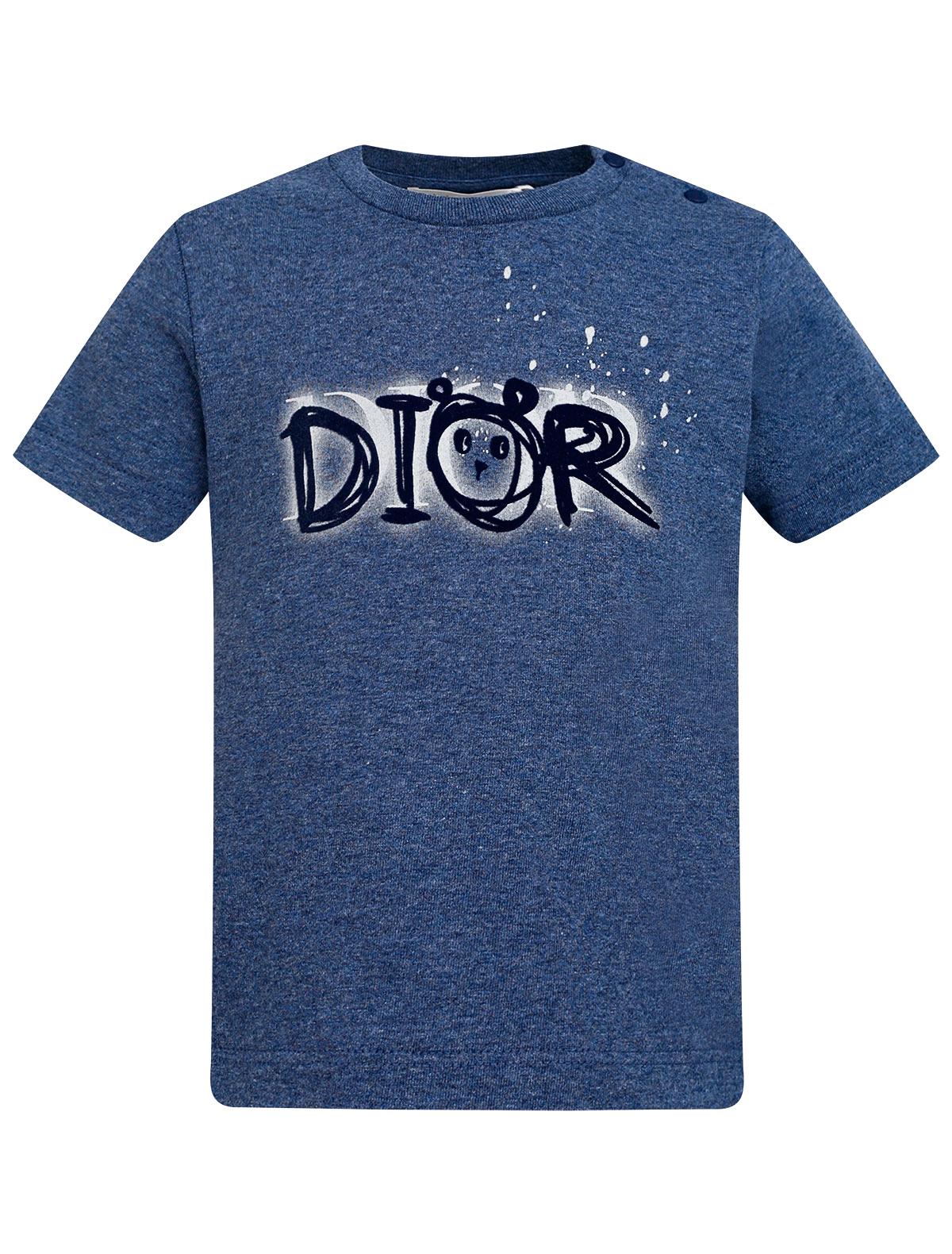 Купить 2305240, Футболка Dior, синий, Мужской, 1134619171604