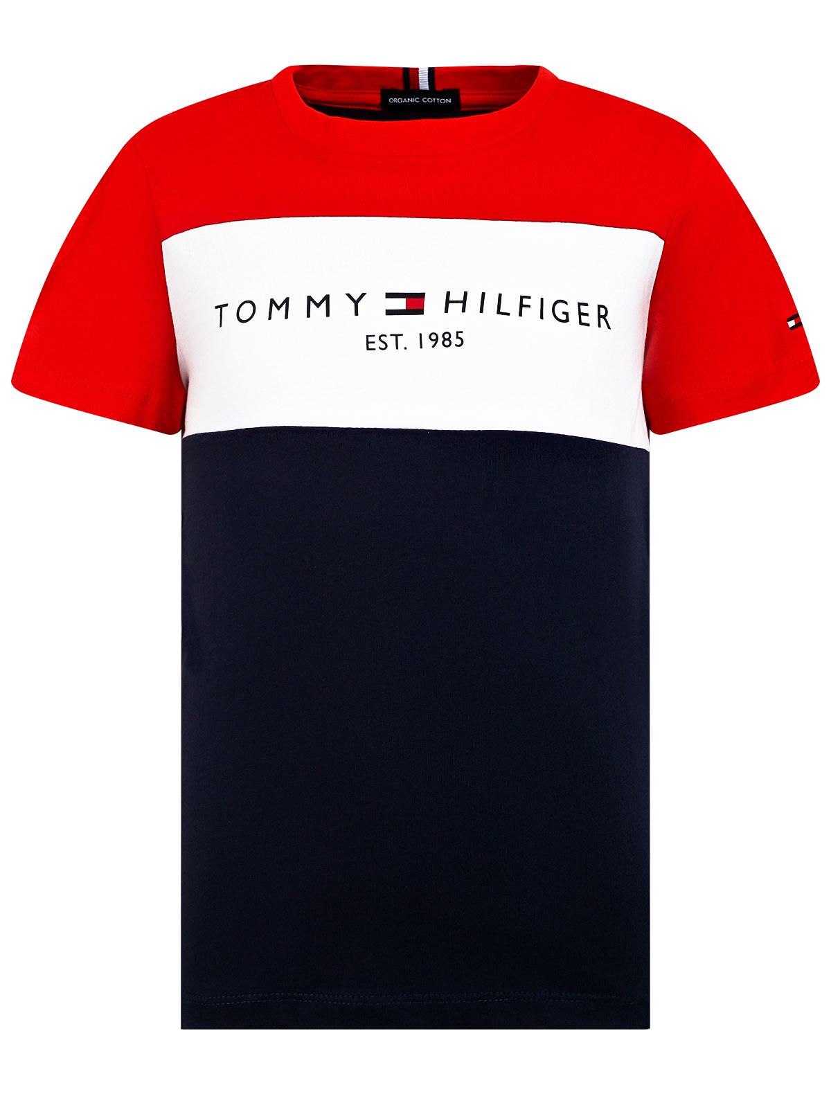 2313045, Футболка TOMMY HILFIGER, синий, 1134529179974  - купить со скидкой