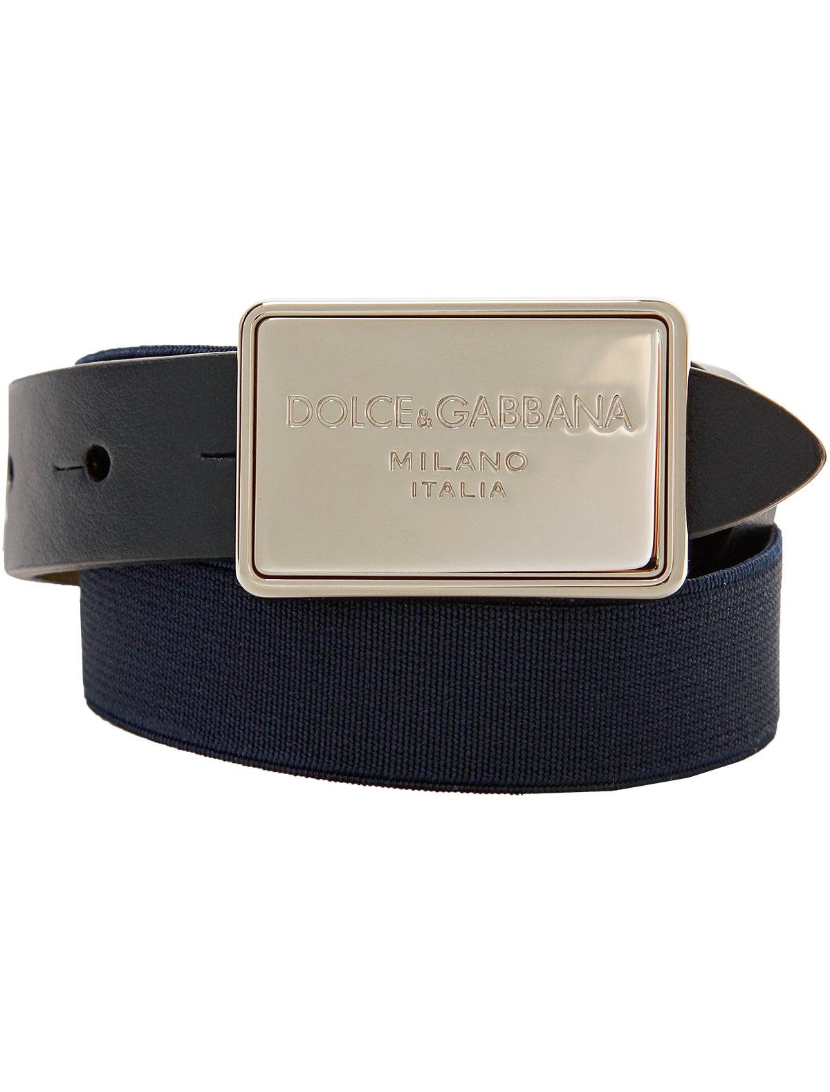 1845741, Ремень Dolce & Gabbana, синий, Мужской, 1301418880529  - купить со скидкой