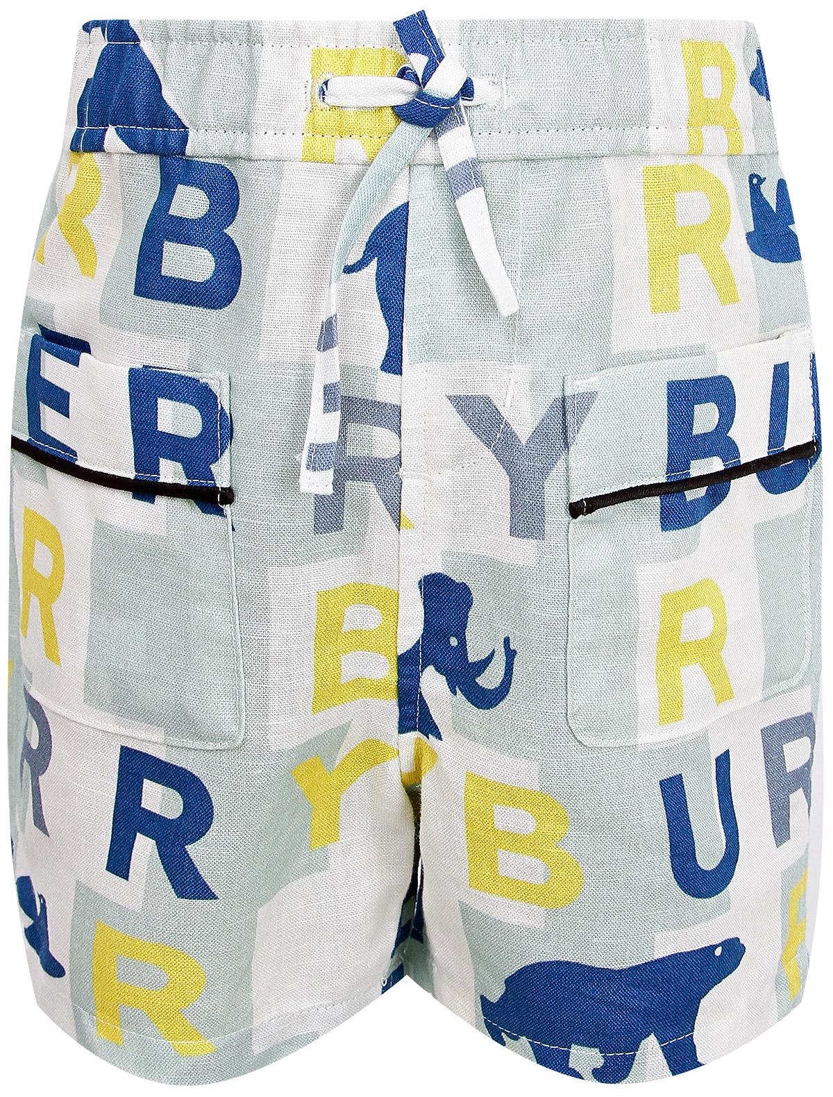 Купить 2020712, Шорты Burberry, голубой, Мужской, 1411519970309