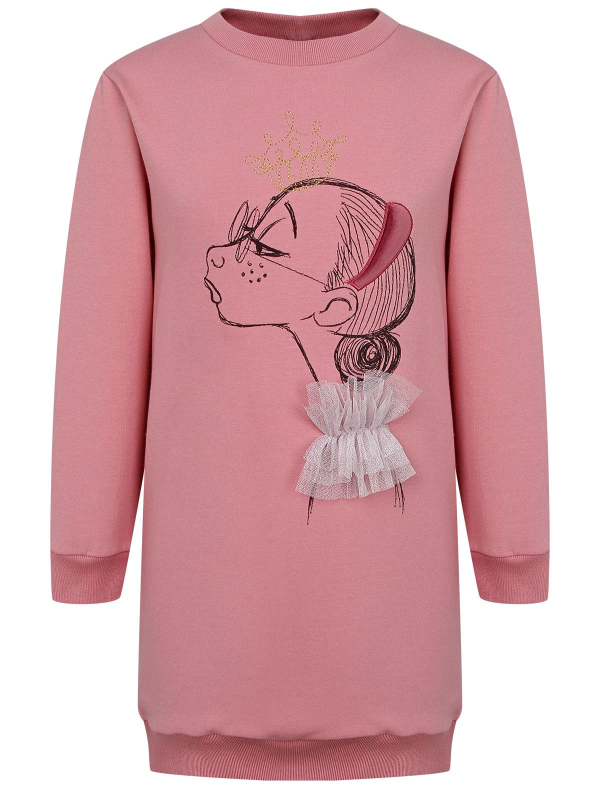 Купить 2244086, Платье Il Gufo, розовый, Женский, 1054609081600