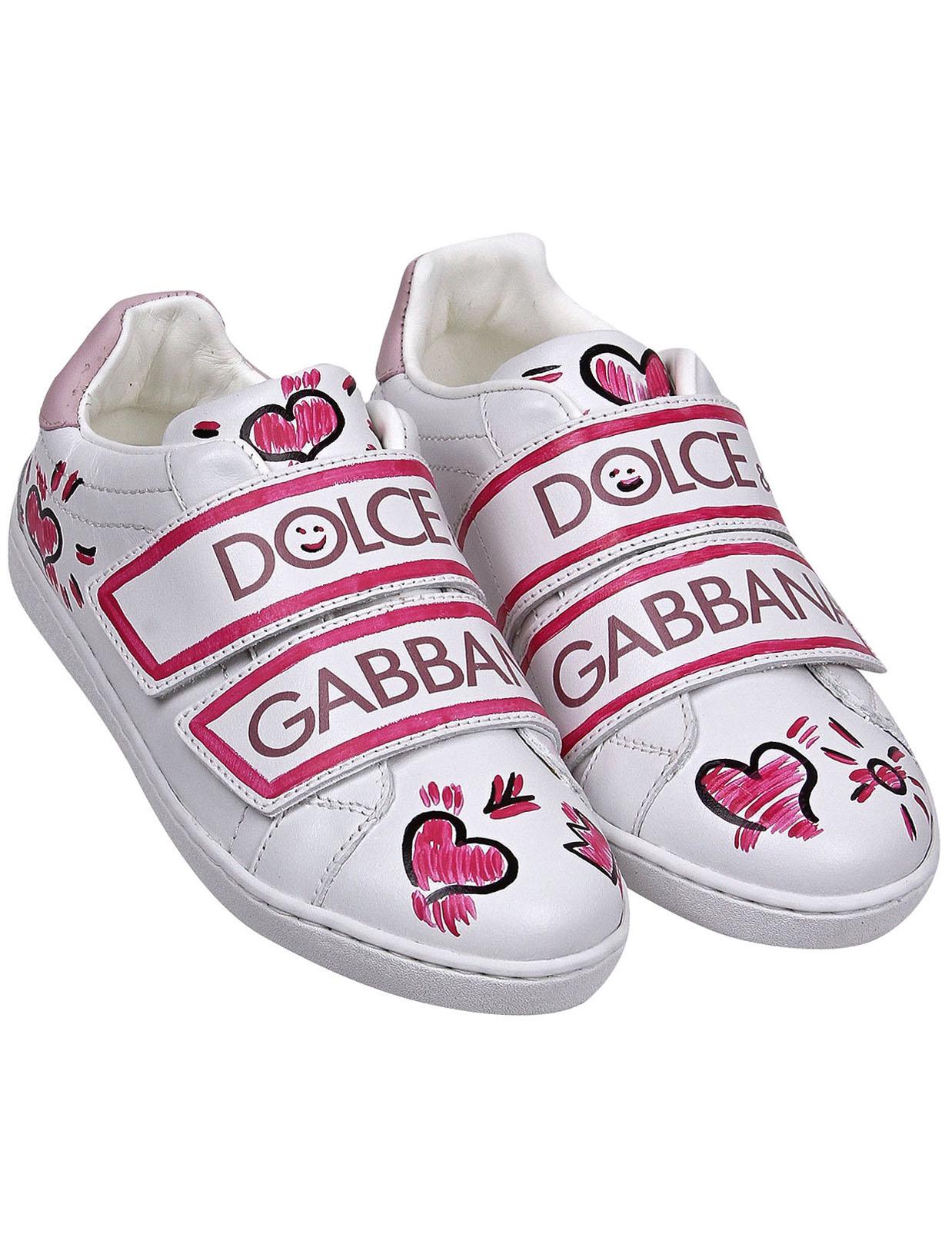 Кеды Dolce & Gabbana белого цвета