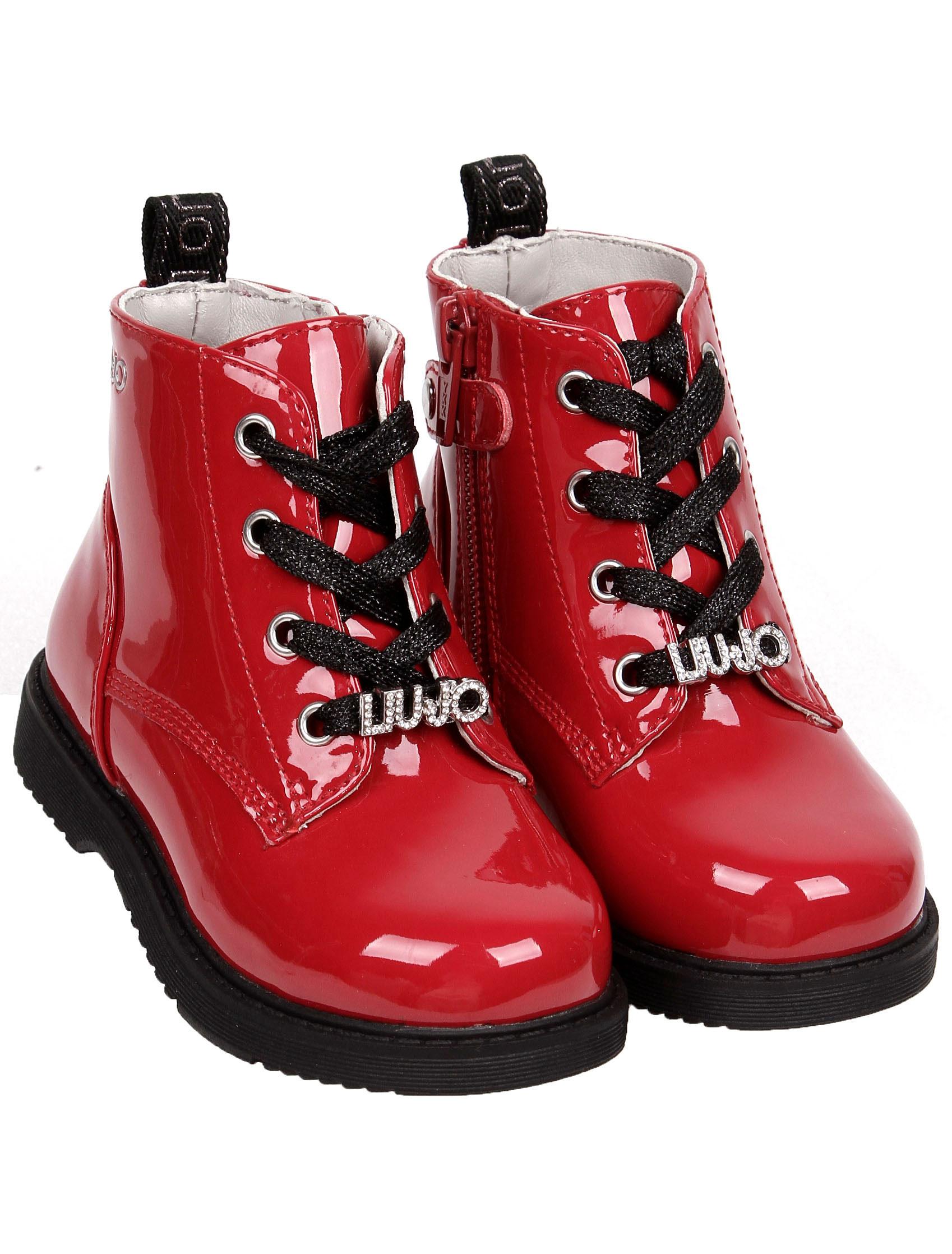 Купить 2254901, Ботинки Liu Jo Junior, красный, Женский, 2034509083088