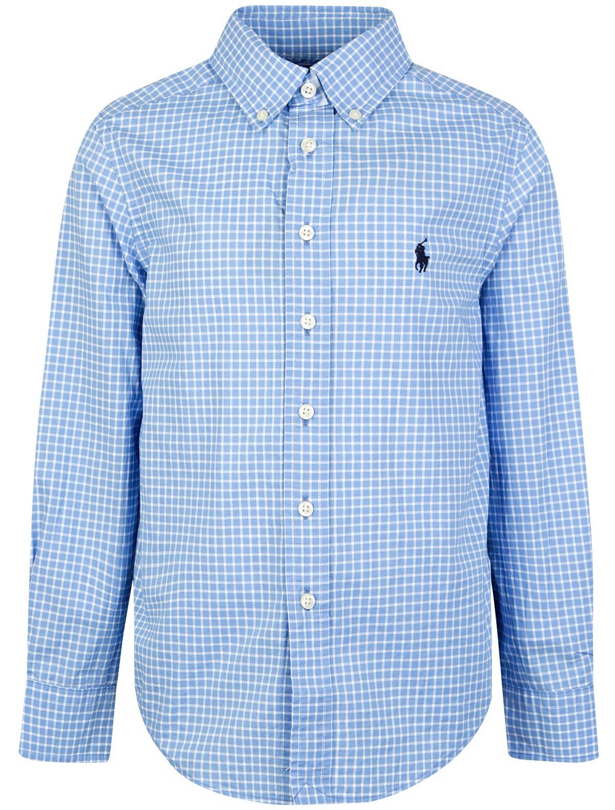 Купить 1864022, Рубашка Ralph Lauren, голубой, Мужской, 1011519880174