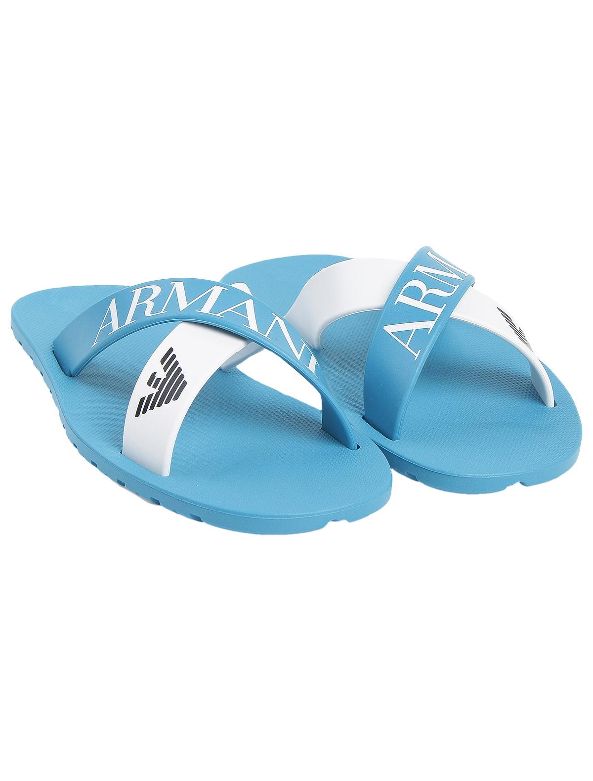 Купить 1924844, Шлепанцы пляжные Armani Junior, голубой, Мужской, 2281519870058