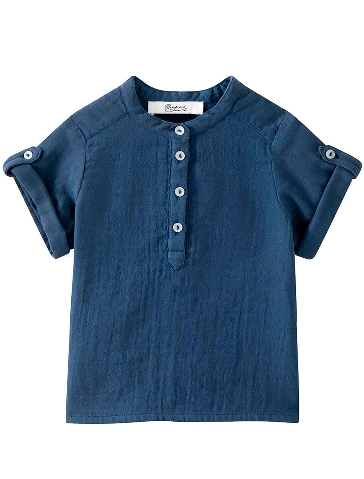 Купить 2306860, Рубашка Bonpoint, синий, Мужской, 1014519173611