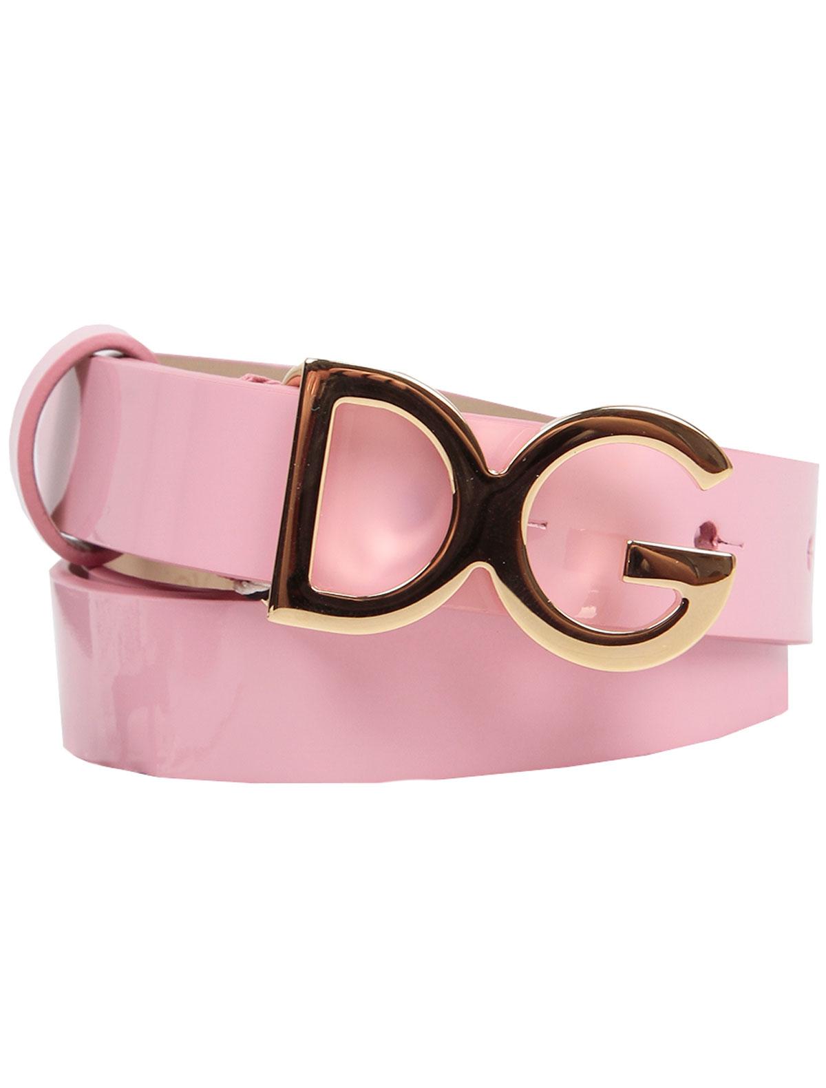 Ремень Dolce & Gabbana розового цвета