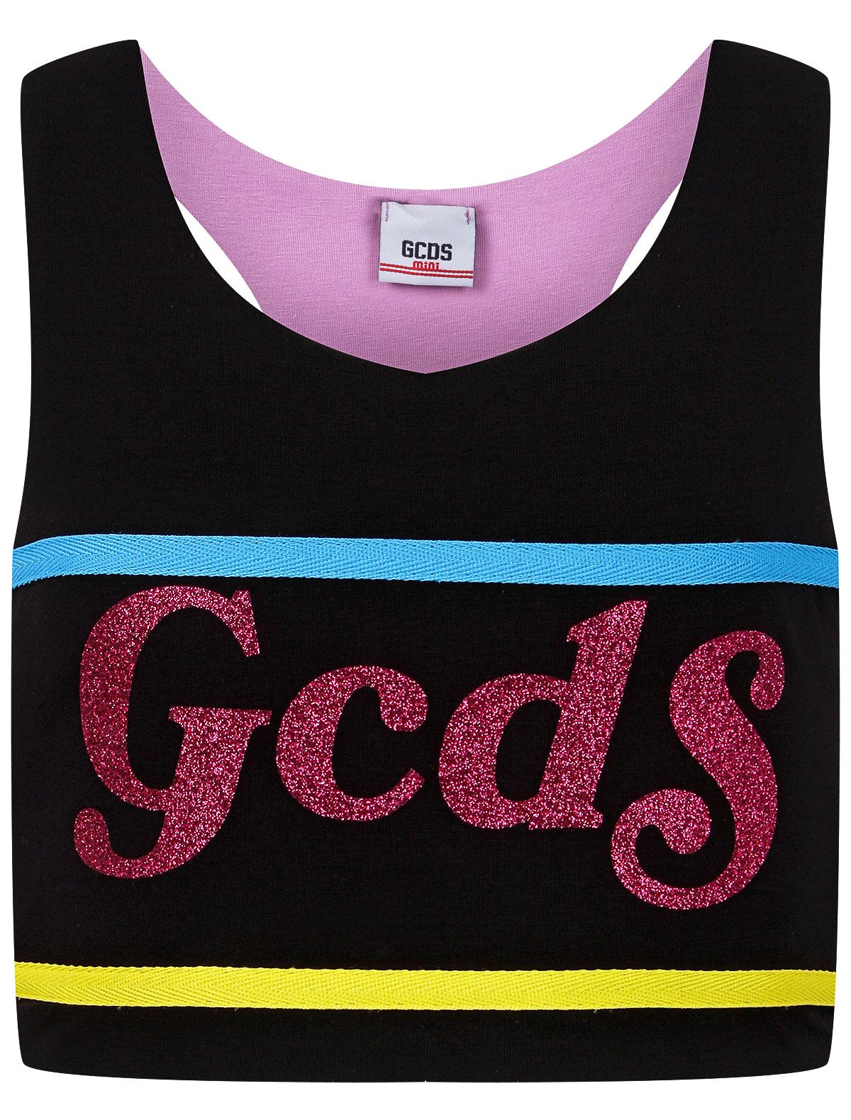 Купить 2302989, Топ GCDS mini, черный, Женский, 0514509170657