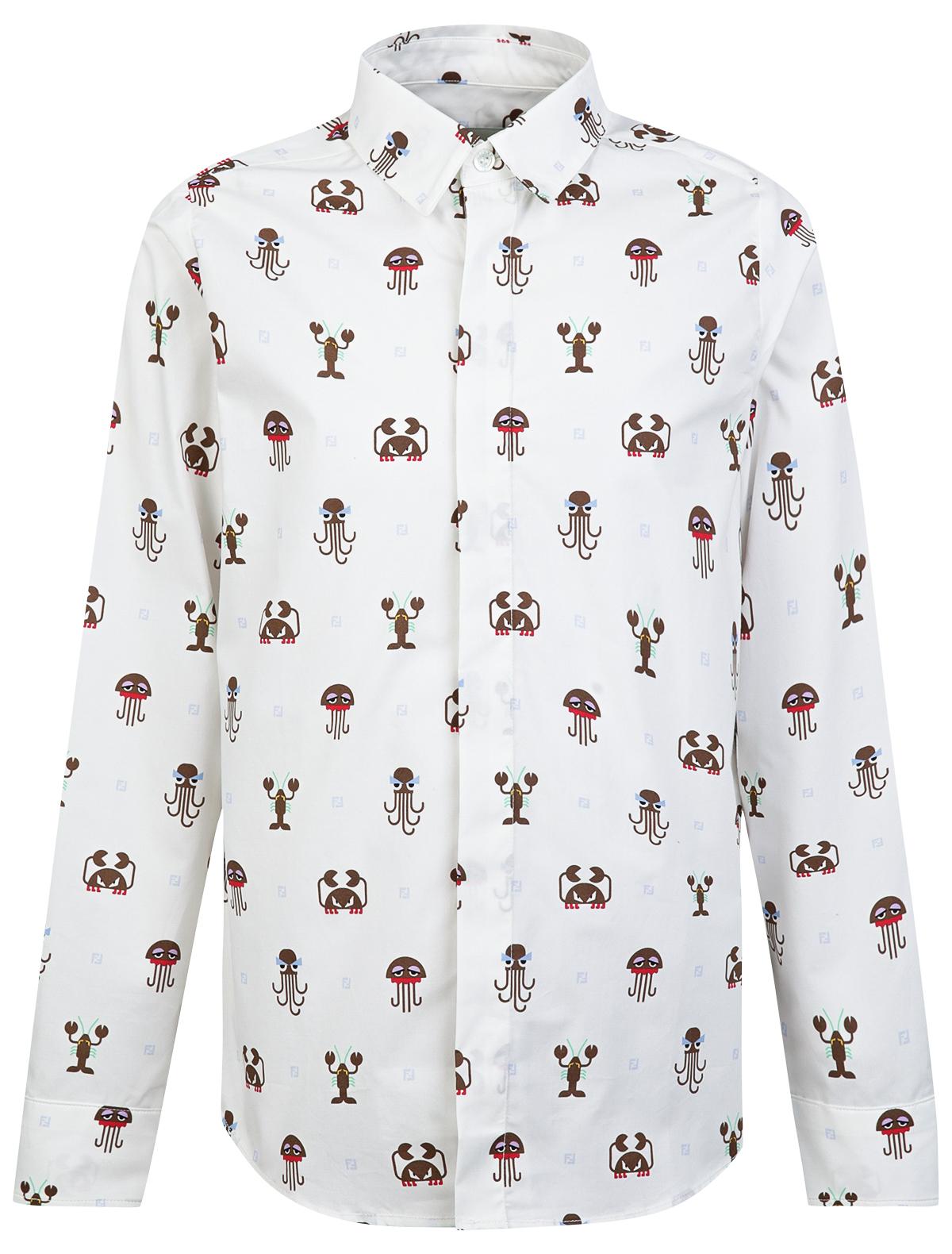 Купить 2020254, Рубашка Fendi, разноцветный, Мужской, 1012119970012