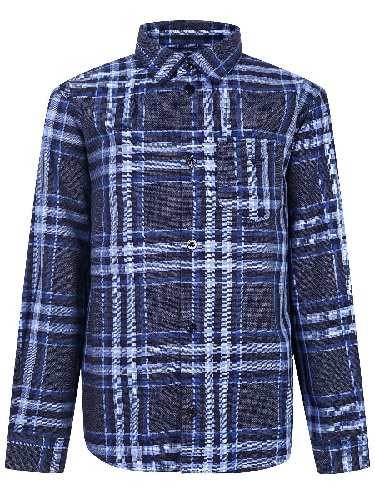 2129279, Рубашка Armani Junior, синий, Мужской, 1013619980129  - купить со скидкой
