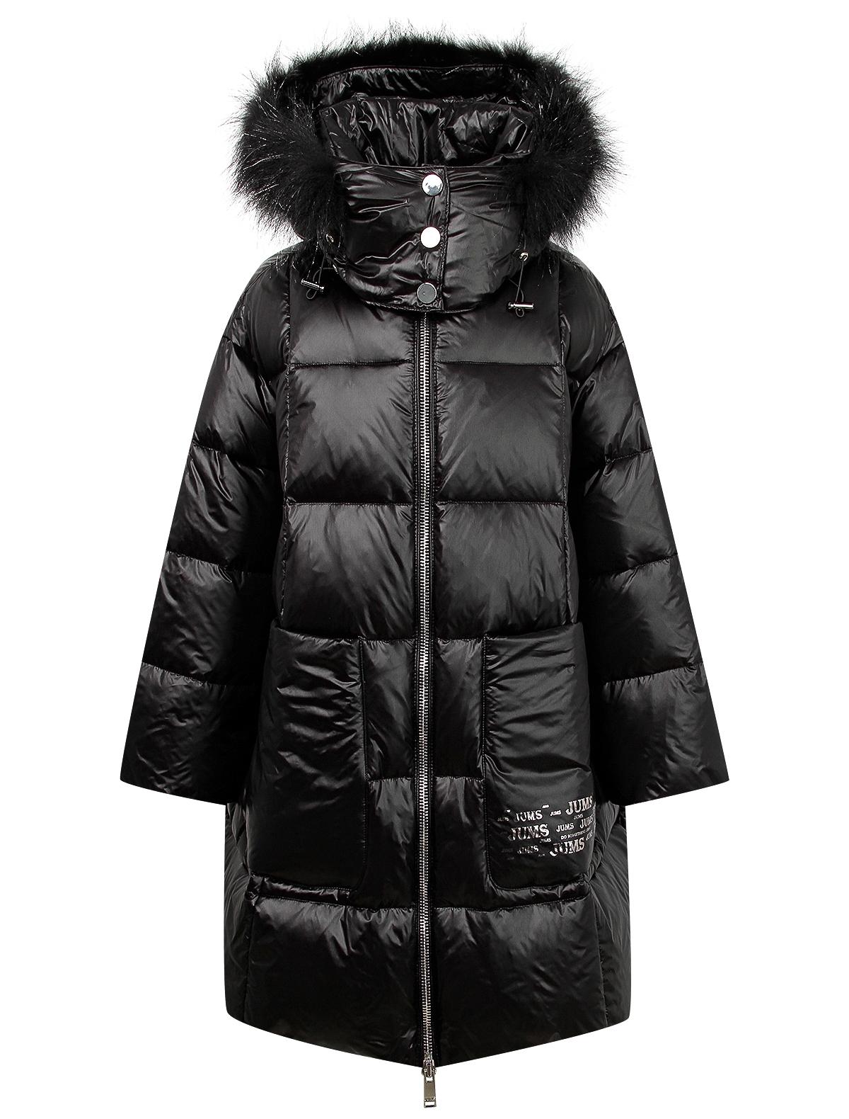Купить 2121264, Пальто Jums Kids, черный, Женский, 1121109980082