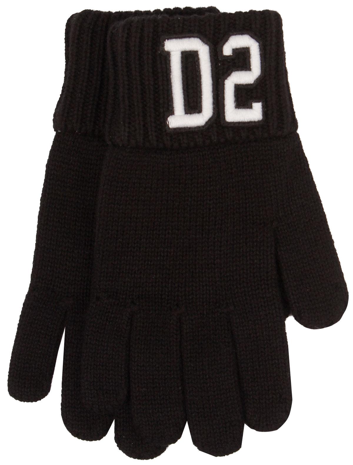 Перчатки Dsquared2 черного цвета