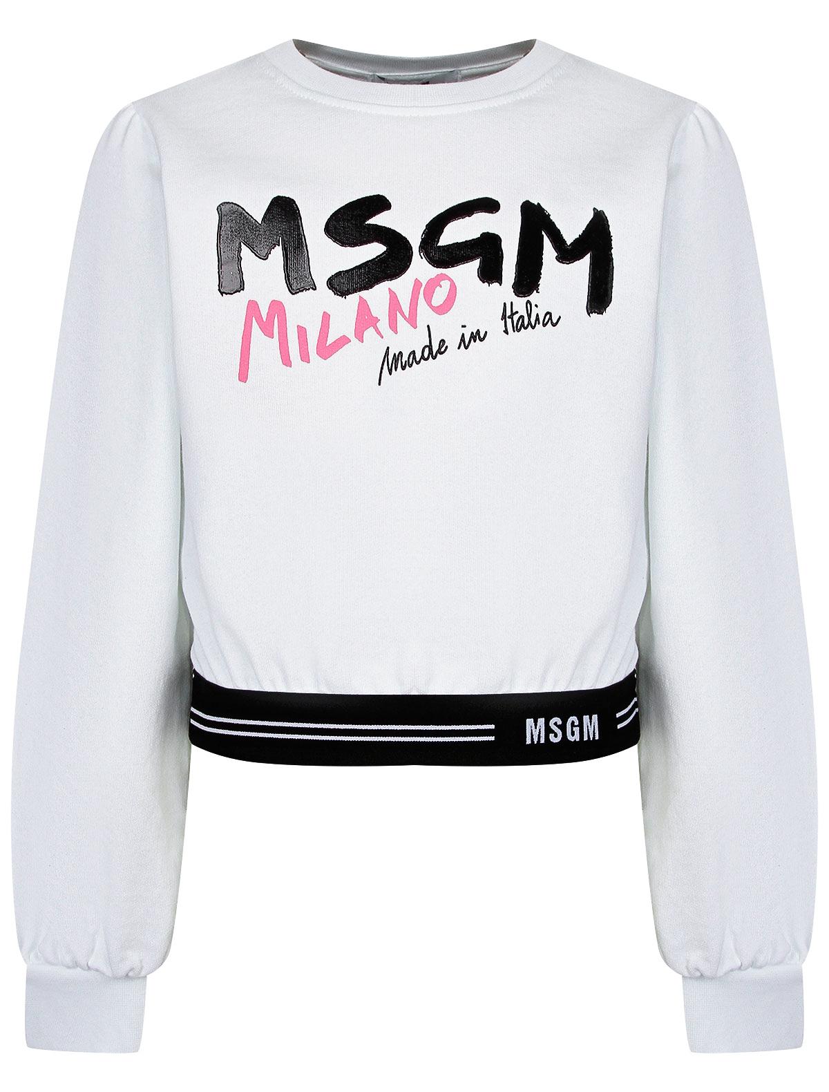 Свитшот MSGM белого цвета
