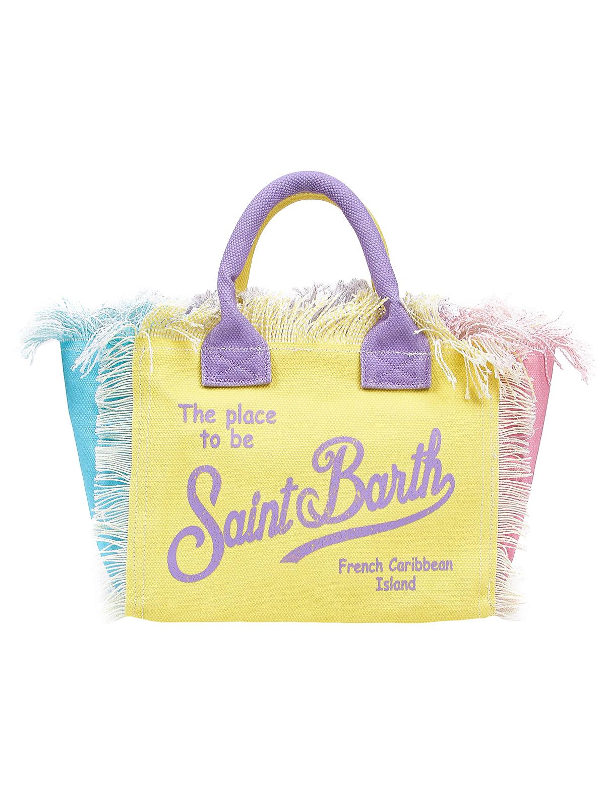 Сумка пляжная MC2 Saint Barth 2311940 фиолетового цвета