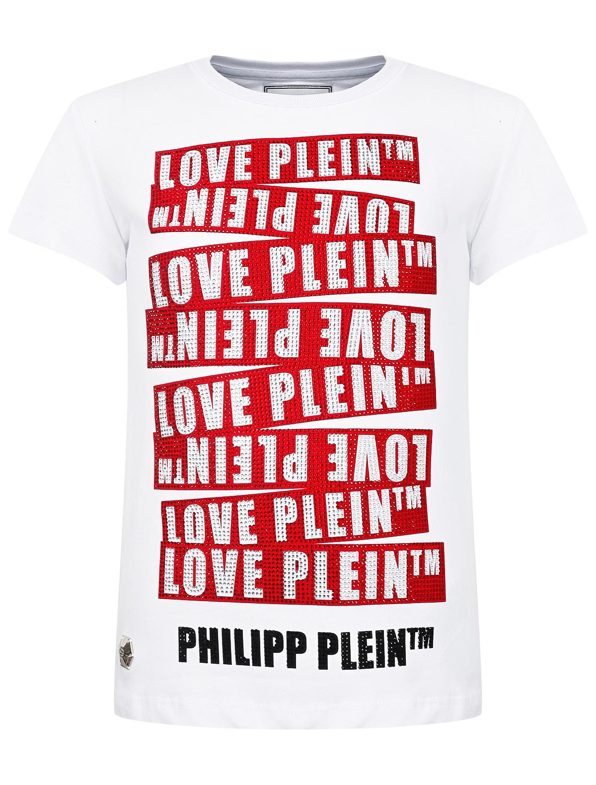 2043335, Футболка Philipp Plein, белый, Женский, 1131209980448  - купить со скидкой