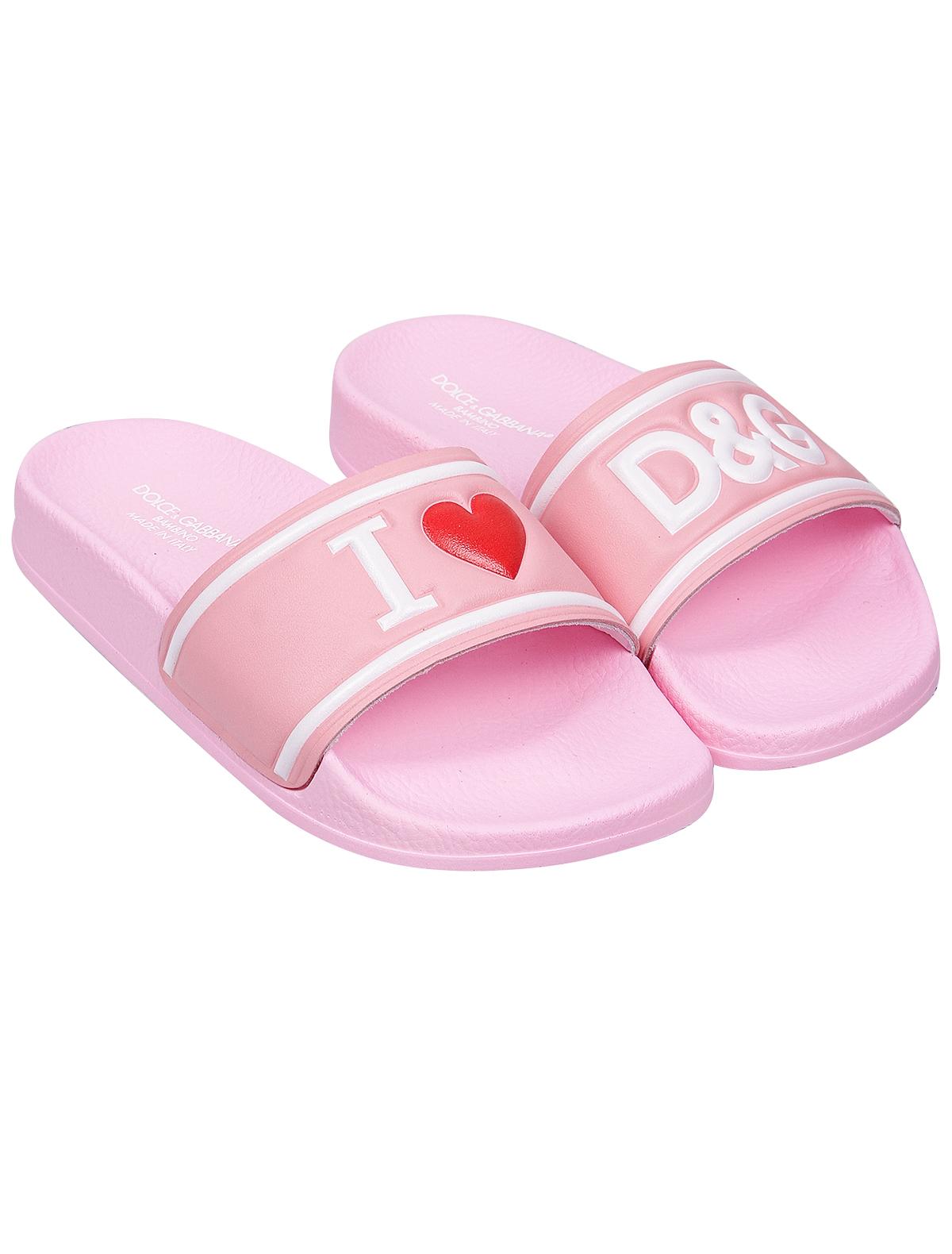 Купить 1950452, Шлепанцы пляжные Dolce & Gabbana, розовый, Женский, 2282609970788