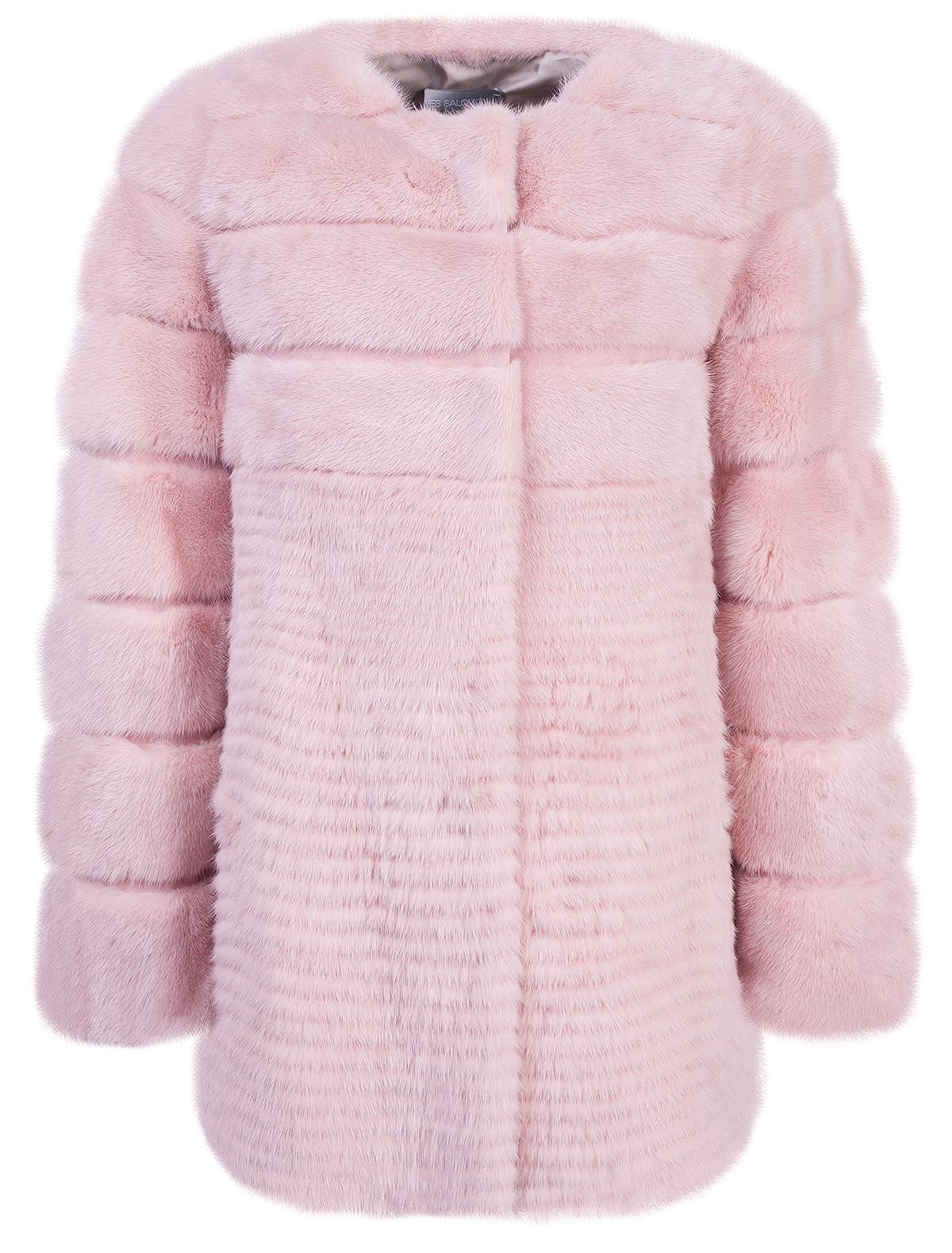 Купить 1912261, Пальто меховое (шуба) Yves Salomon, розовый, Женский, 1732608781409