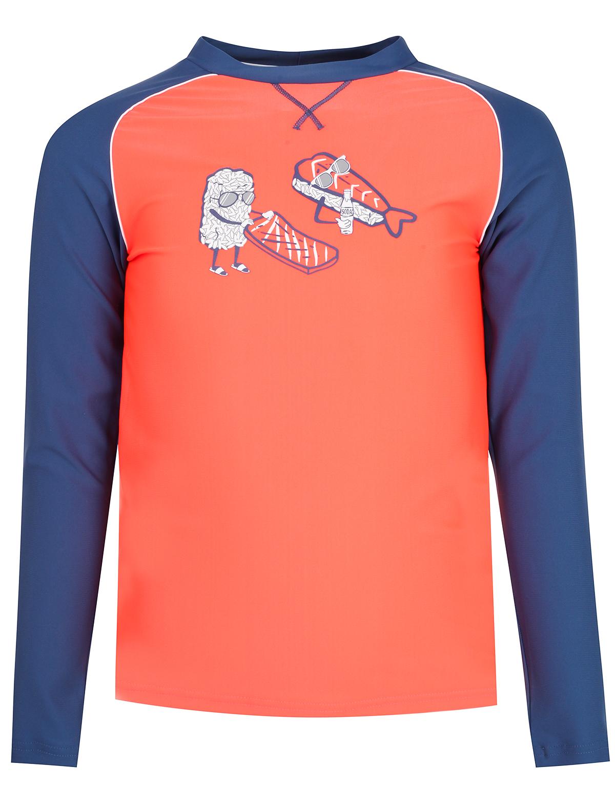 Футболка солнцезащитная SUNUVA оранжевого цвета