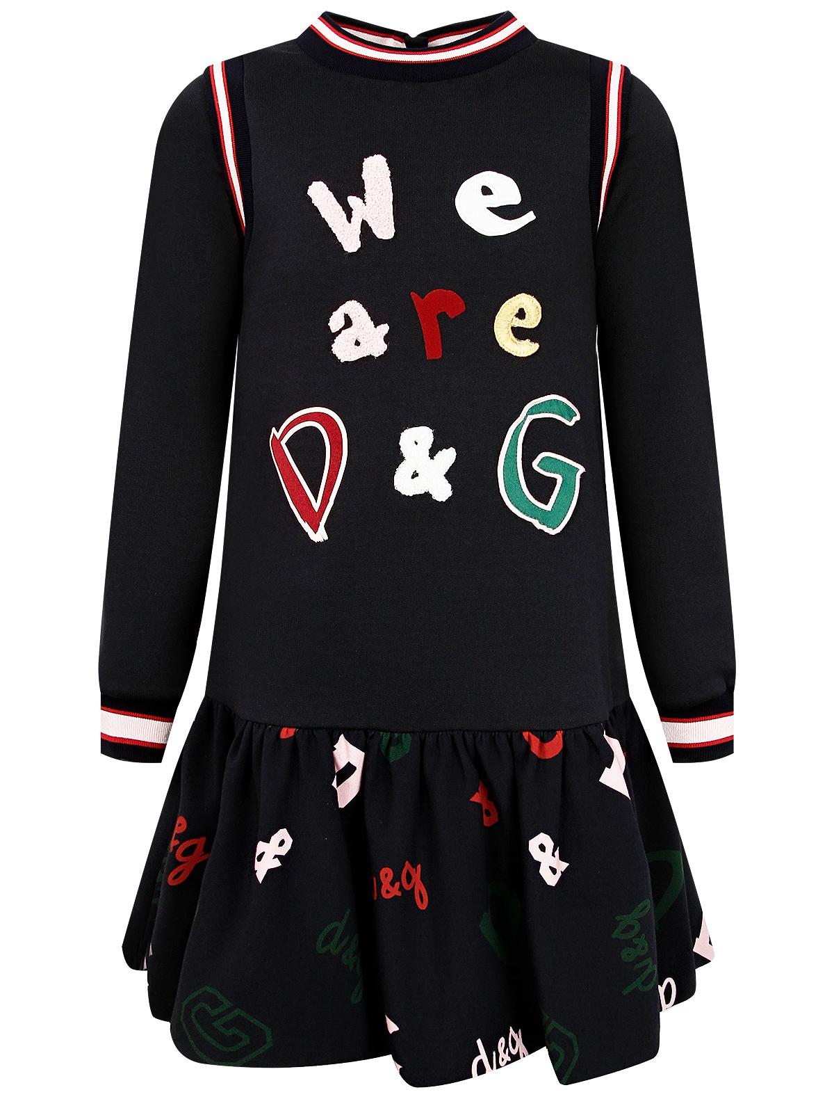 Купить 2263767, Платье Dolce & Gabbana, синий, Женский, 1054609088166