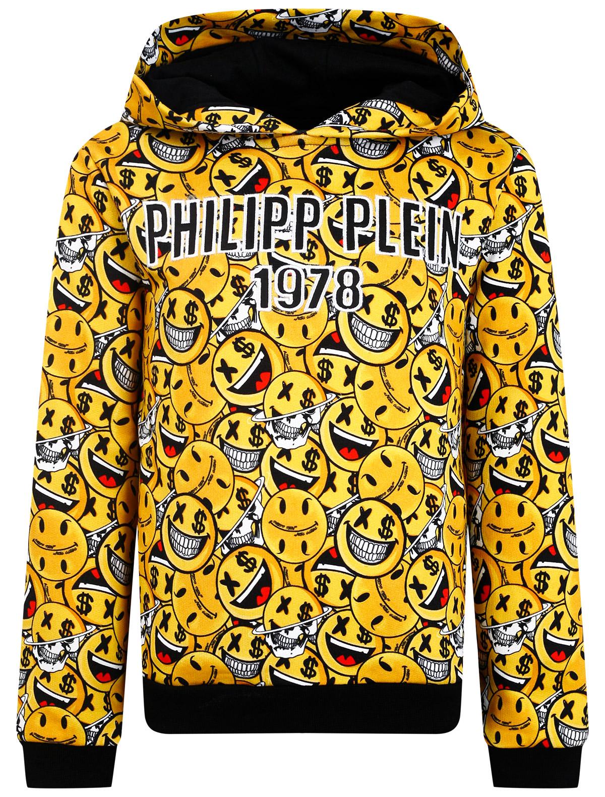 Купить 2299379, Худи Philipp Plein, желтый, Мужской, 0094519170637